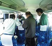 貸切バスの安全と点検