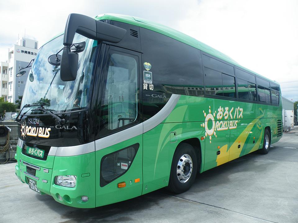 いすゞの新車大型バス外観